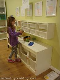 furniture playroom for kids with ikea toy storage on wall and