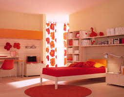 Round Red Rug Bedroom Classy Image Of Teenage Red Bedroom Decoration Using