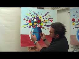 How To Paint A Vase Art Lesson How To Paint An Abstract Explosion Of Flowers Using