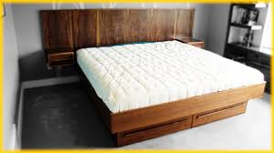 Floating Bedframe by Bed Frames How To Build A Full Size Platform Bed Mid Century