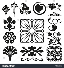 retro ornaments collection stock vector 186849353
