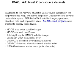 iraq map vector iraq reference map and gis database unclassified inr ppt