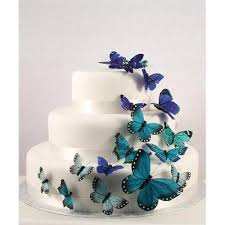 butterfly wedding cake beautiful butterfly wedding cake set in blue 24 pieces weddingstar