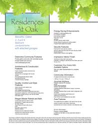 residences at oak plans prices availability