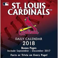Desk Daily Calendar St Louis Cardinals 2018 Desk Calendar 9781469349671