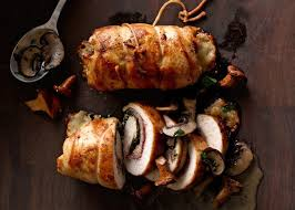 elegant dinner party menu ideas prosciutto stuffed chicken with mushroom sauce recipe chicken