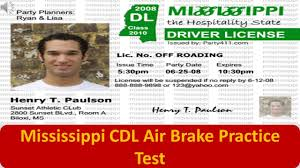 mississippi cdl air brake practice test youtube