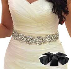 wedding dress sashes soardream black bridal sash wedding dress sash belt