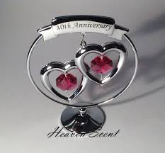 40th anniversary gift ideas 40th ruby wedding anniversary gift ideas with swarovski 40 year
