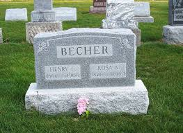 becher k che tombstone tuesday henry c and rosa a becher s chatt