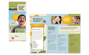 free microsoft word brochure templates tri fold child development