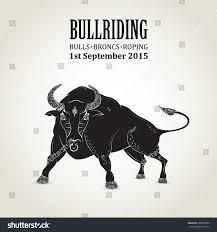 rodeo invitation bull ornaments zodiac stock vector