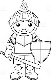 knight coloring page for kids stock vector art 486267238 istock