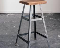 rustic industrial bar stools rustic barstool etsy