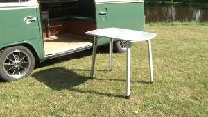 deluxe folding camping table j16631 youtube