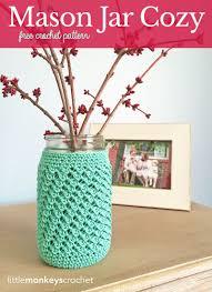 frascos en crochet frascos decorados crochet pinterest mason