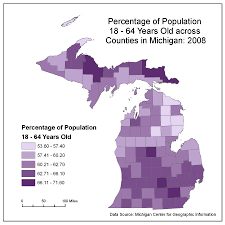 Map Of Upper Michigan by Flu Patterns In Michigan