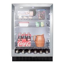 coca cola fridge glass door summit scr2464 glass door all refrigerator 4 86 cf stainless
