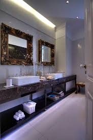 bathroom mirror ideas bathroom eclectic with cove lighting crown