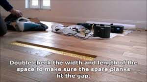 How To Repair Laminate Floor How To Repair A Damaged Plank In A Real Wood Floor Youtube