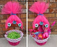mermaid easter basket trolls easter basket made with tulle and accessories easy to do