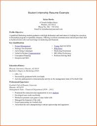 Extra Curricular Activities For Resume Examples Resume For Internship College Student Free Resume Example And