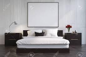 chambre en bois blanc intérieur de chambre à coucher en bois blanc avec un plancher de
