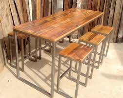 Industrial Bar Table Custom Outdoor Indoor Rustic Modern Industrial Reclaimed Wood