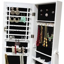 Jewelry Storage Cabinet Mirror Jewellery Cabinet Box Full Length Wooden Mirrored Storage