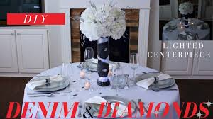 diy denim u0026 diamonds centerpiece elegant denim and diamonds
