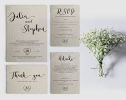 wedding invitations sets wedding invitation set etsy