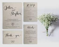wedding invitation sets wedding invitation set etsy