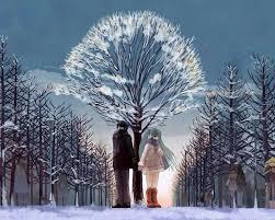winter anime wallpaper hd anime snow wallpapers hd download free media file pixelstalk net