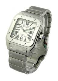 cartier bracelet steel images W200737g cartier santos 100 large size steel essential watches jpg
