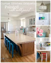 How Do You Paint Kitchen Cabinets Custom Kitchen Cabinets Painted With Milk Paint