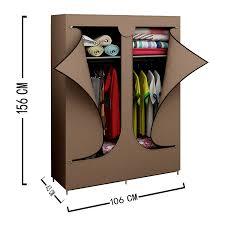 amazon com double door portable wardrobe closet clothes rack