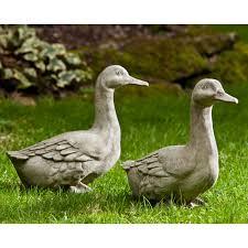 cania international quackers ducks cast garden statue