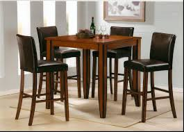 Pub Table And Chairs Set Bar Stools Rustic Pub Table Set Circle Black Leatherette Swivel