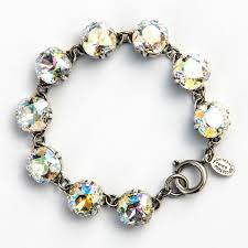 bracelet crystal silver images Large stone crystal bracelet crystal moonlight and silver jpg
