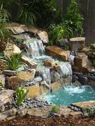 Waterfalls In Backyard Ponds by Going To Tear Out My Little Waterfall And Add This One I Think