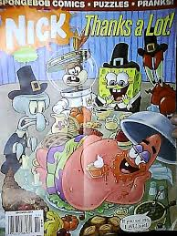 spongebob thanksgiving comic issue cover by flamin on