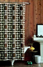 Dwell Shower Curtain - studio floral block brown cream fabric shower curtain target