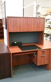 Computer Hutch Desk With Doors by Office Source Desk W Box File Tack Board Keyboard Tray And