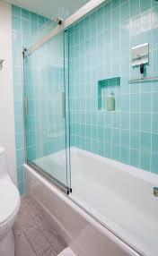 Aqua Bathroom Tiles Mt Ranier Eichler 4x8 Aqua Bathroom Installation Gallery