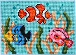 peterson tropical fish canoodles needlepoint kit 5038