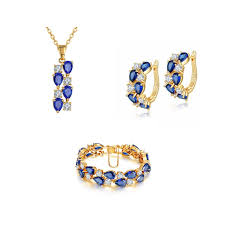 fashion necklace gold images Buy necklace set online blue necklace set yellow gold plated jpg