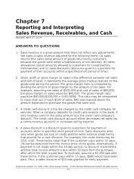 afm 101 chapter 7 solutions manual bad debt gross margin