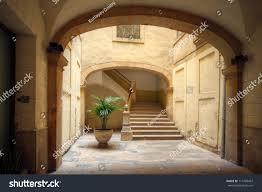 spanish home courtyard old spanish home tarragona spain stock photo 111489467
