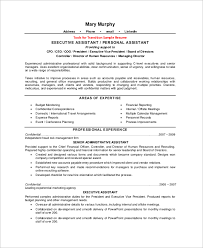 Sample Of Executive Assistant Resume by Sample Executive Assistant Resume 8 Examples In Word Pdf