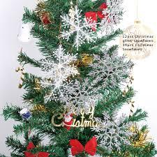 glitter snowflakes christmas tree decoration xmas hanging